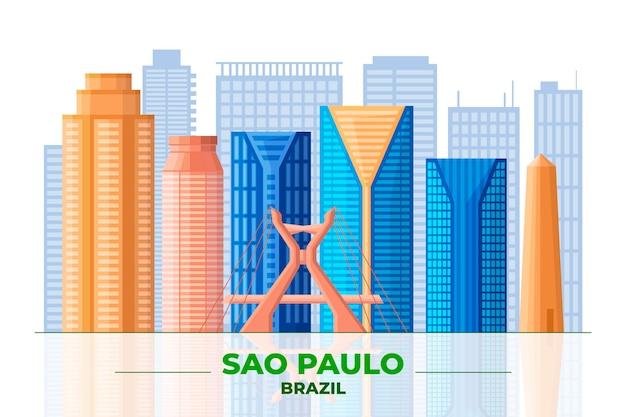 Sao paulo en verschillende gebouwen vooraanzicht