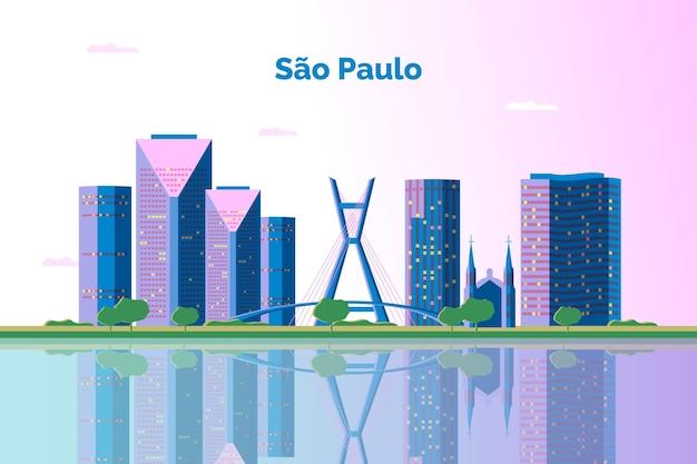 São paulo skyline illustratie