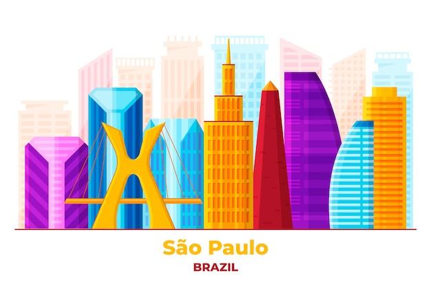 Sao paulo skyline in levendige kleuren