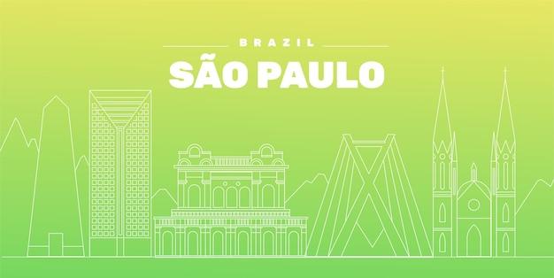 Sao paulo skyline kleurovergang groen