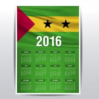 Sao tomé en principe de kalender van 2016