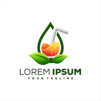Sap drinken oranje logo ontwerp