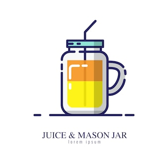 Sap & mason jar pictogram op een witte achtergrond