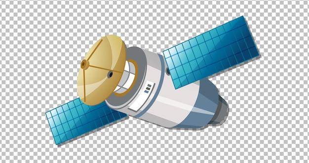Satelliet op transparant