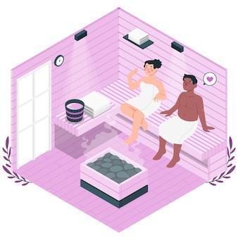 Sauna concept illustratie