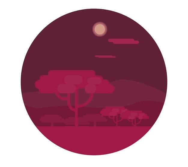 Savanna achtergrond vectorillustratie