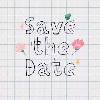 Save the date kaart