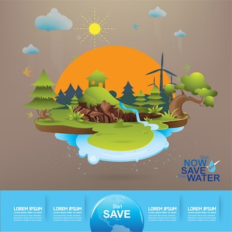 Save the water concept life