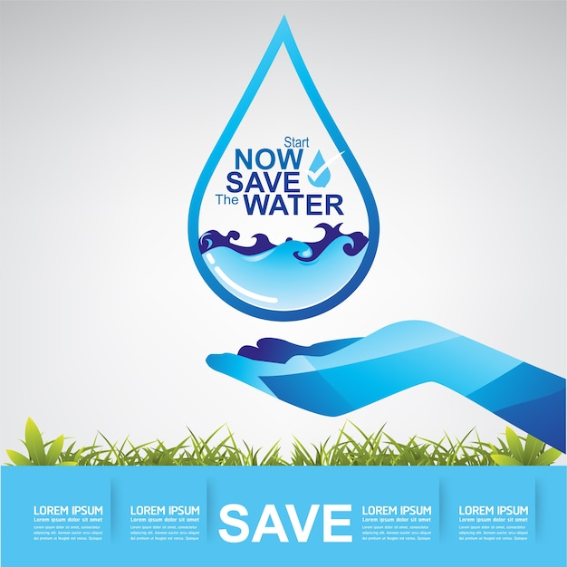 Save the water vector water is leven