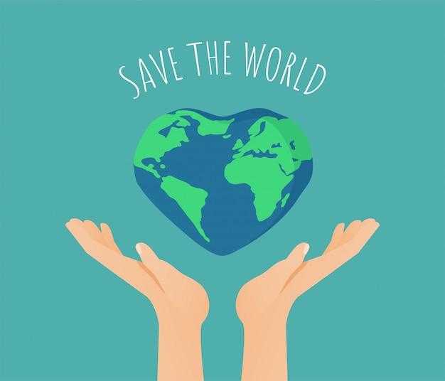 Save the world-illustratie