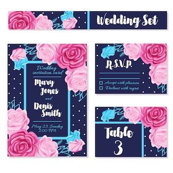 Save wedding date invitations cards