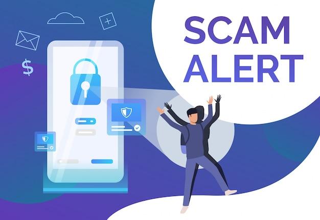 Scam alert poster sjabloon