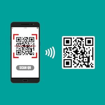 Scan qr-code naar mobiele telefoon