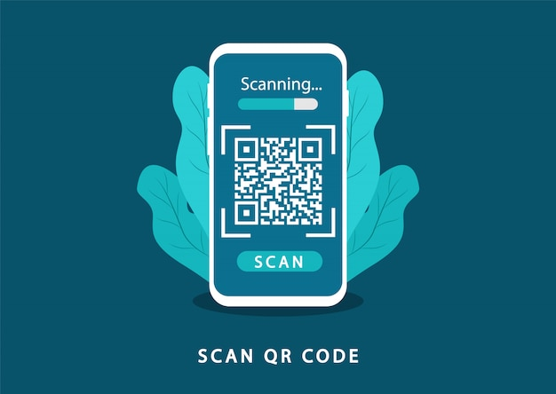 Scan qr-code. verificatie qr-code.