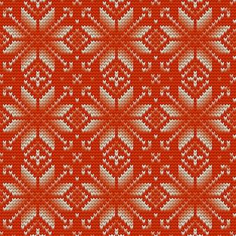 Scandinavisch gebreid perfect naadloos patroon.