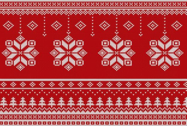 Scandinavisch gebreide kerstpatroon