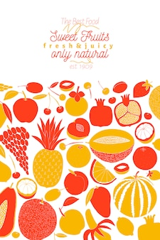 Scandinavisch handgetekend fruit