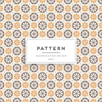 Scandinavisch naadloos patroon. ontwerp met stoffenprint