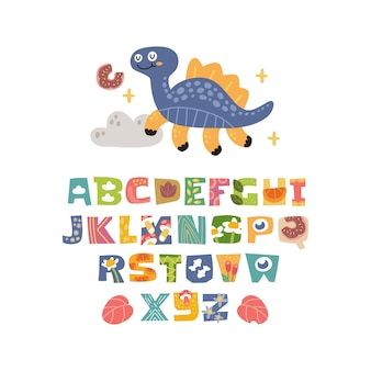 Scandinavische alfabet set schattig fantasie en clipart kleurrijke collectie geïsoleerd element
