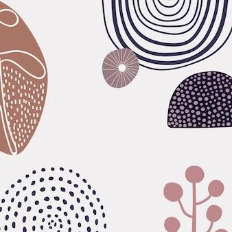 Scandinavische moderne printachtergrond in aardetint
