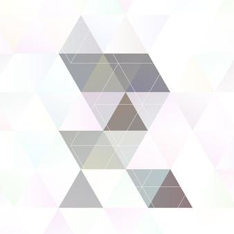 Scandinavische stijl abstracte driehoekige kunst