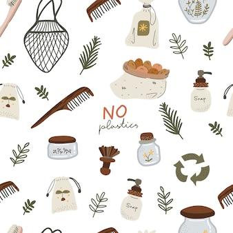 Scandinavische stijl geen afval naadloos patroon