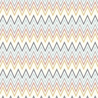 Scandinavische stijlkunst met chevronpatroon Gratis Vector