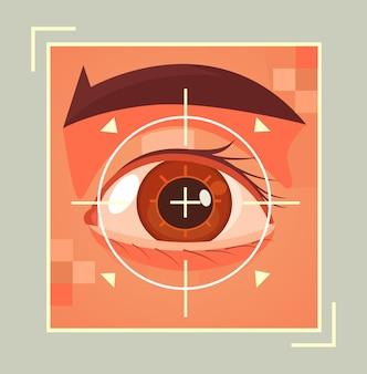 Scannen van oog retina illustratie