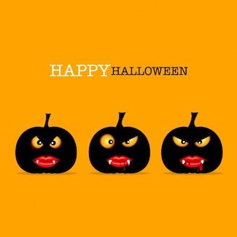 Scary halloween pompoenen achtergrond