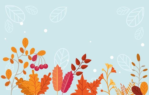 Scène in het herfstseizoen