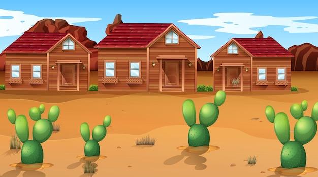 Scène met een west-woestijnthema in de natuur
