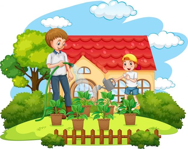 Scène met familie die een goede tijd thuis hebben