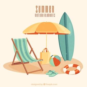 Scène summer in vintage stijl