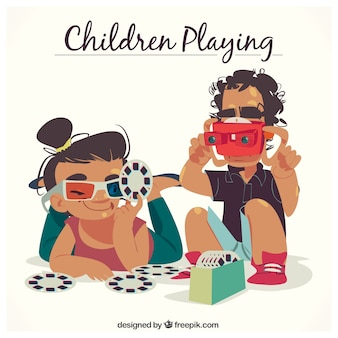 Scene van spelende kinderen