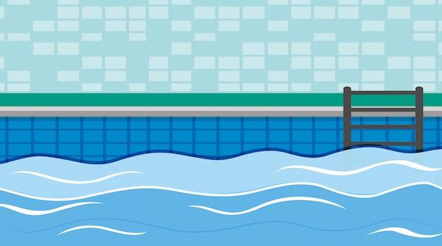 Scène van zwembad met