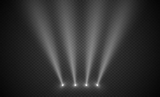 Scène verlichting licht, transparant flitslicht effect. spotverlichting van het podium.