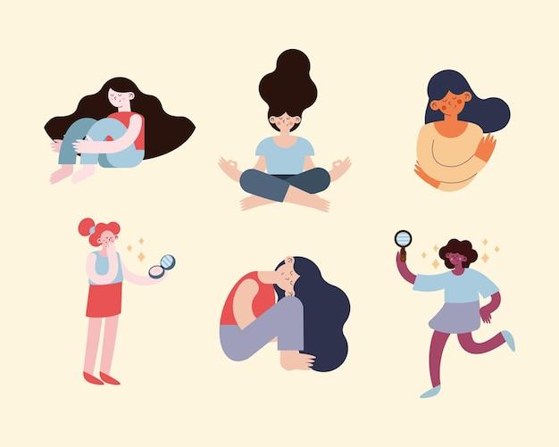 Scènes van vrouwelijke zelfliefde