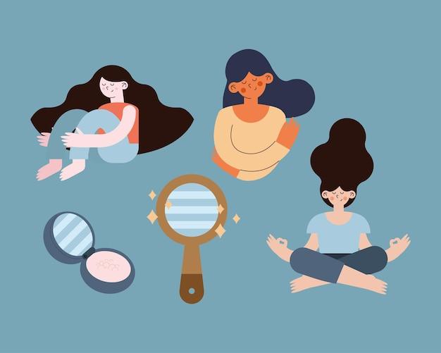 Scènes van zelfliefde van dames