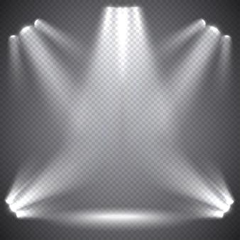 Scèneverlichting, transparante effecten