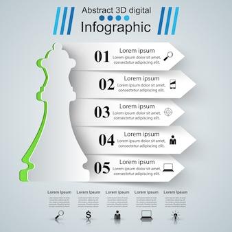 Schaak logo. zakelijke infographics.