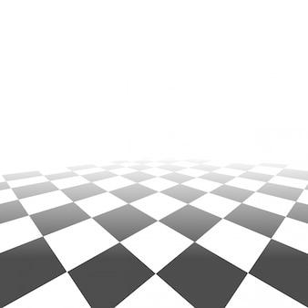 Schaakbord perspectief achtergrond vector