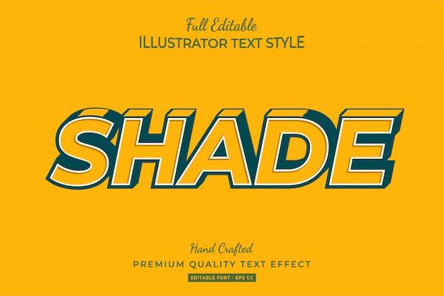 Schaduw bewerkbare 3d-tekststijl effect premium