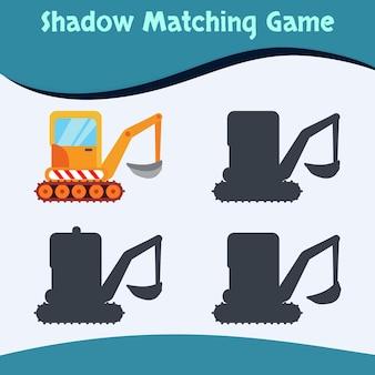Schaduw matching game machines editie premium vector goed voor kinderen onderwijs en collectie
