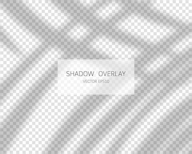 Schaduw overlay-effect. natuurlijke schaduwen geïsoleerd op transparante achtergrond. Premium Vector