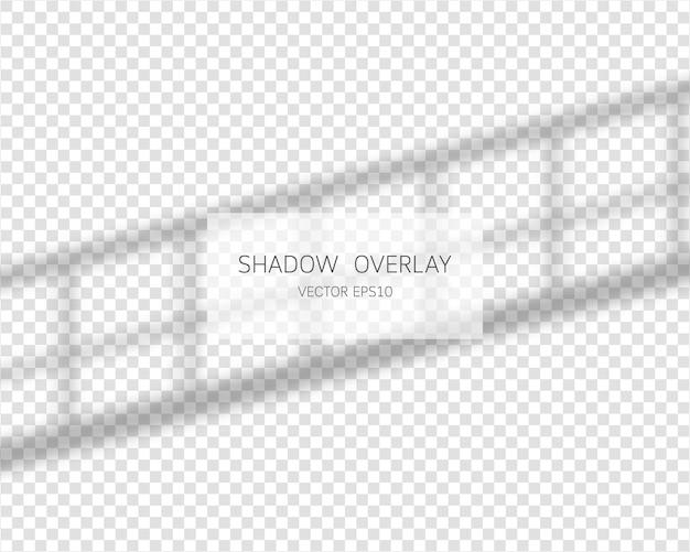 Schaduw overlay-effect. natuurlijke schaduwen van raam geïsoleerd