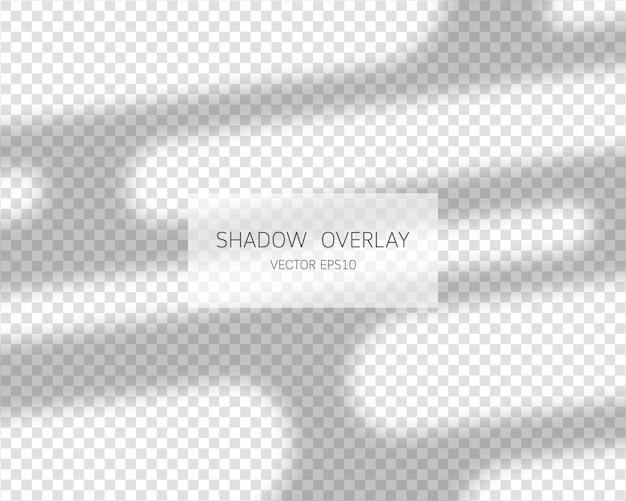 Schaduw-overlay-effect natuurlijke schaduwen van venster geïsoleerd op transparante achtergrond afbeelding