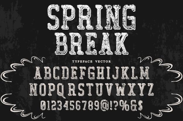 Schaduweffect alfabet ontwerp voorjaarsvakantie