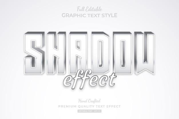 Schaduweffect bewerkbare premium teksteffect lettertypestijl Premium Vector