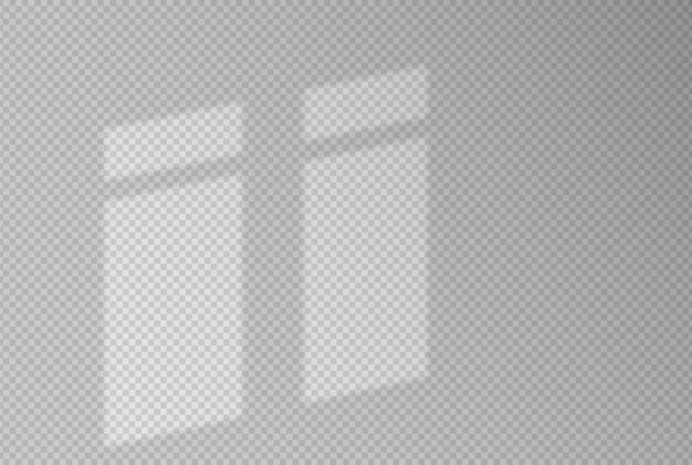 Schaduweffecten. schaduw en licht uit het raam. reflectie van licht op de muur. transparante tinten voor uw ontwerp. illustratie.