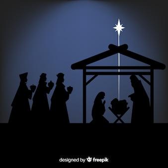 Schaduwen kerststal